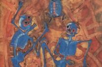 Dos Muertos con Tortuga Azul